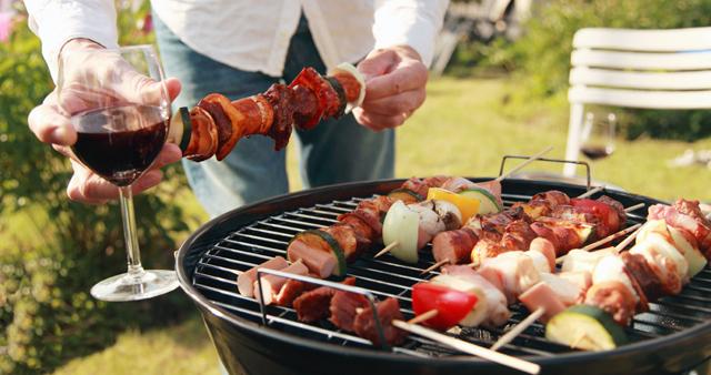 barbecue en lekkere wijn
